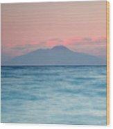 Bay Of Naples And Vesuvius From Capri Wood Print