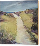 Bay Path Wood Print