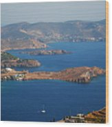 Bay View On Patmos Island Greece Wood Print