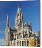 Bayeau Cathedral Wood Print