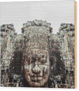Bayon Temple Wood Print