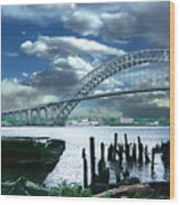Bayonne Bridge Wood Print