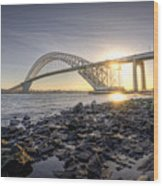 Bayonne Bridge Sunset Wood Print