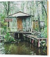 Bayou Cabin Wood Print