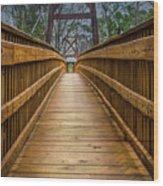 Bayou Foot Bridge Wood Print