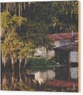 Bayou Shack Wood Print