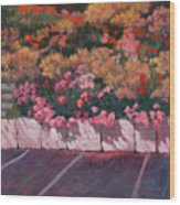 Bayside Flowers Wood Print