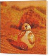 Bb-8 In The Desert - Da Wood Print