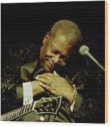 Bb King - Straight From The Heart Wood Print