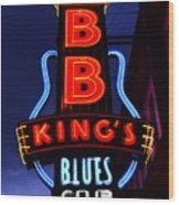 B B King's Blues Club Wood Print