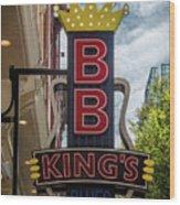 Bb King's Blues Club - Honky Tonk Row Wood Print