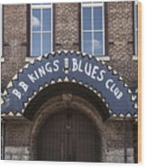 B.b. King's Blues Club Wood Print