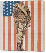 Be A U.s. Marine Wood Print
