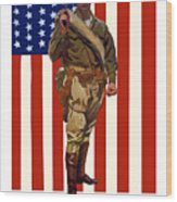 Be A Us Marine Wood Print