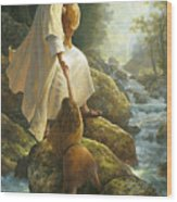 Be Not Afraid Wood Print by Greg Olsen