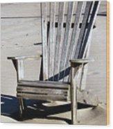 Be Seated Wood Print
