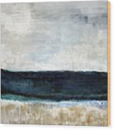 Beach- Abstract Painting Wood Print