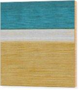 Beach Abstract  Wood Print