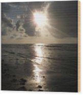 Beach After Sunrise  Wood Print