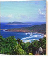 Beach And Cayo Norte From Mount Resaca Wood Print