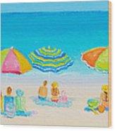 Beach Art - Crazy Lazy Summer Days Wood Print