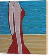 Beach Babe Wood Print