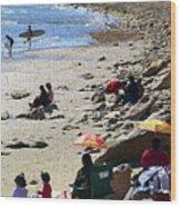 Beach Babies 2 Wood Print