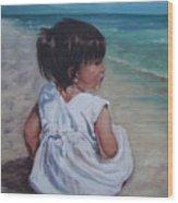 Beach Baby Wood Print
