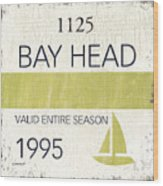 Beach Badge Bay Head Wood Print