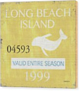 Beach Badge Long Beach Island 2 Wood Print