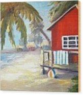 Beach Ball Resort Wood Print