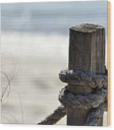 Beach Barrier Wood Print
