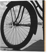 Beach Bicycle Wood Print
