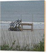 Beach Bicycles Wood Print