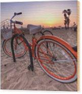 Beach Bike Wood Print