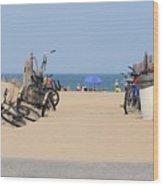 Beach Bikes 5832 Wood Print