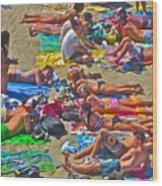 Beach Blanket Bingo Wood Print