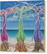 Beach Bliss Buddies Wood Print
