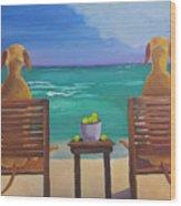 Beach Blondes Wood Print