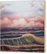 Beach Break Wood Print