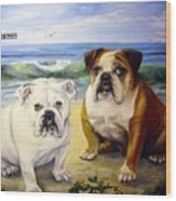 Beach Bullies Wood Print