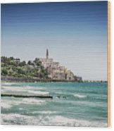Beach By Jaffa Yafo Old Town Area Of Tel Aviv Israel Wood Print