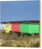 Beach Cabanas Wood Print