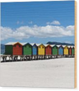 Beach Cabins  Wood Print by Fabrizio Troiani