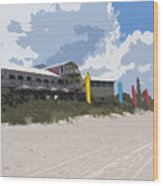 Beach Casino Wood Print