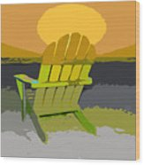 Beach Chair Work Number Seven Wood Print