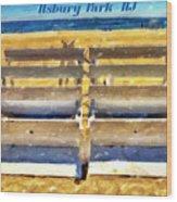 Beach Closed Asbury Park Nj Wood Print