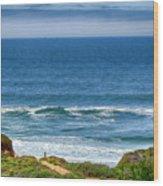 Beach Cloud Streak Wood Print