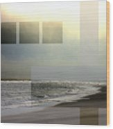 Beach Collage 2 Wood Print