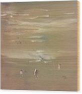 Beach Combers Wood Print by Gregory Dallum